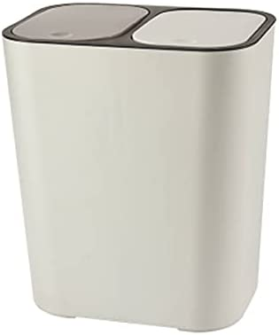 VELIHOME Trash Can Rectangle In stock Compartmen Plastic Fees free!! Dual Push-Button
