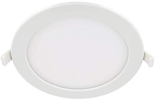 Spot LED encastrable fin IP44 230 V rond - Transformateur intégré - 1450 lm - Diamètre : 220 mm - Plat : 32 mm - 110° - Blanc jour (4000 K)