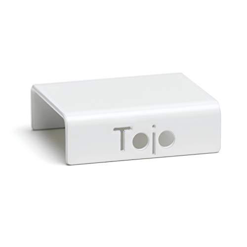 Tojo Hochstapler I Clips zur Befestigung der Hochstapler Module I Individuelles Wandregal, Bücherregal, CD Regal I Erweiterung für MDF Regal I Farbe Weiß