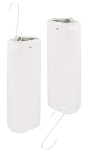 Lantelme 2 Stück Keramik Heizungsverdunster Rippenheizkörper Set Luftbefeuchter Wasserverdunster Heizkörper Metallhaken 7622
