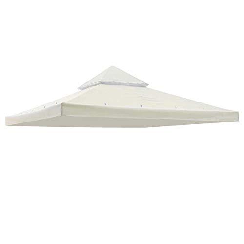 Ianqujiangxinqujianjunbaih Camping Tent met Terras Top luifel Cover Tuinschaduw Gazebo Patio Tent Zonneschermen Accessoires Vervanging Outdoor 120x120inch Tuinpaviljoen Kleur: wit