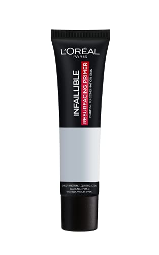 L'Oreal Paris Infallible Primer Base opacizzante, finitura opaca e vellutato, morbido al tatto, leviga la pelle, 35 ml