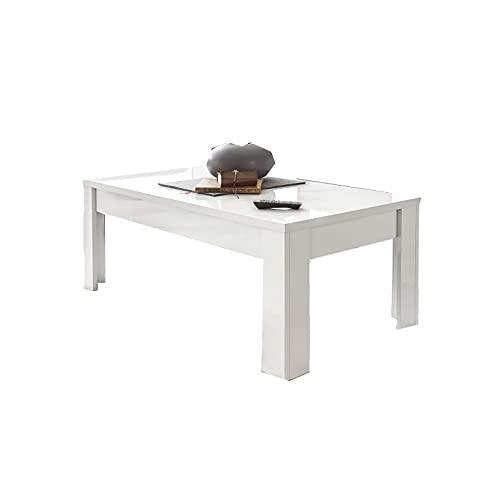 Shiito - Mesa de Centro Rectangular Fabricada en Color Blanco. Modelo Easy 329006N. Diseño Sencillo Comedor