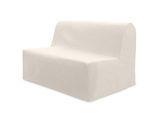Soleil d'Ocre 110033 Panama - Fodera per divano letto in cotone, écru, 140 x 204 cm