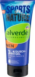 alverde MEN Duschgel 3 in 1 Sports Nature, 1 x 200 ml