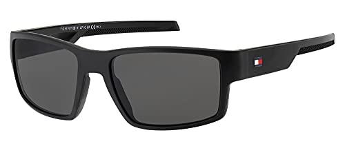 Tommy Hilfiger Gafas de Sol TH 1806/S Matte Black/Grey 58/18/135 hombre
