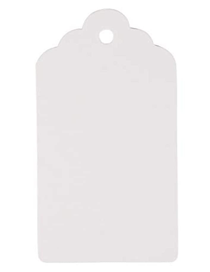 Gift Tags - 1000-Pack Kraft Paper Tags, Merchandise Tags, Writable Tags, Mini Tags, Craft Hang Labels, Name Price Size Labels, for Wedding, Birthday, Holiday, Party Favor, White, 1.97 x 3.54 inches