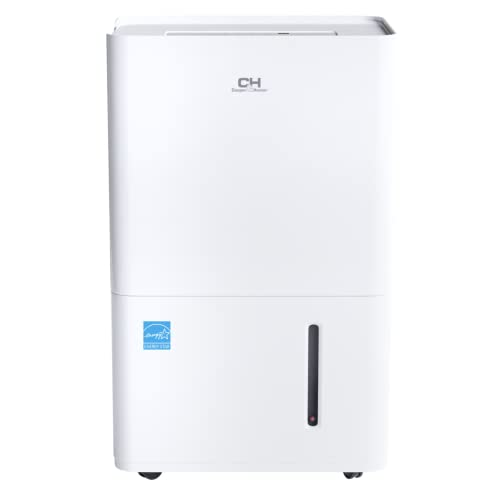 Cooper & Hunter 50 Pint Dehumidifier with Drain Pump for Large Room or Basements 4,500 Sq. Ft, 6L Water Tank (70 pint 2012 DOE standard)