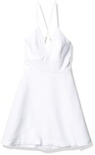 BCBGeneration Women's DEEP V-Neck Cocktail Dress, Optic White, 10