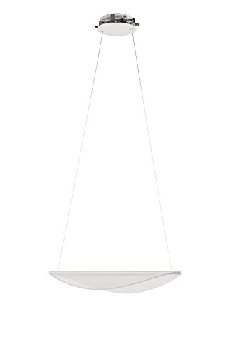 Diphy - Lampada a sospensione in plastica e alluminio, realizzata a mano in Italia, design moderno, lampada a LED, Plastica, LED 21.00W