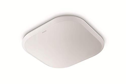 Philips MyLiving CAVANAL plafón LED blanco cuadrado, luz blanca cálida 2700K, 18W 230V