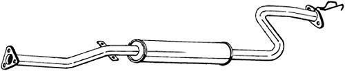 Mittelschalldämpfer (1220-1945) Dämpfer Abgasanlage Auspufftopf