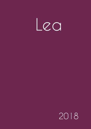 2018: Namenskalender 2018 - Lea - DIN A5 - eine Woche pro Doppelseite
