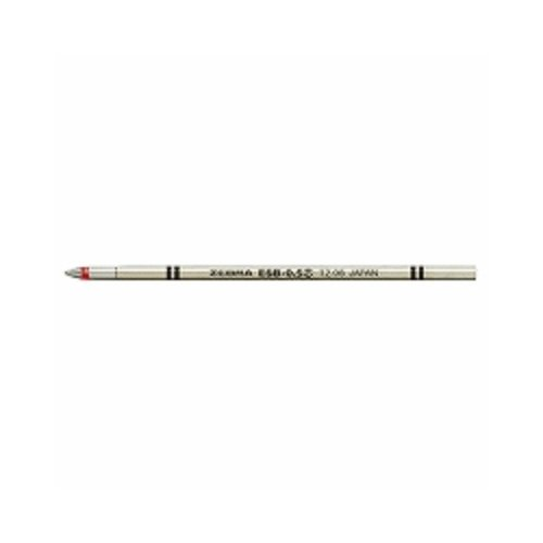 ゼブラ エマルジョンボールペン替芯 ESB-0.5芯 赤 RESB5-R 【3本】
