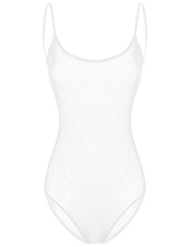Freebily Damen Stringbody Transparent Ouvert-Body Lingerie offener Schritt Bodysuit Overall Erotik Unterwäsche Sheer Dessous Bademode Y Weiß One Size