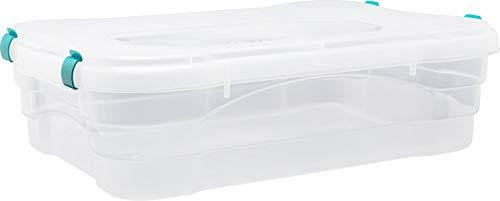 Caja Organizadora con Tapa Hermetica en Plastico Virgen libre de BPA de 23 Litros