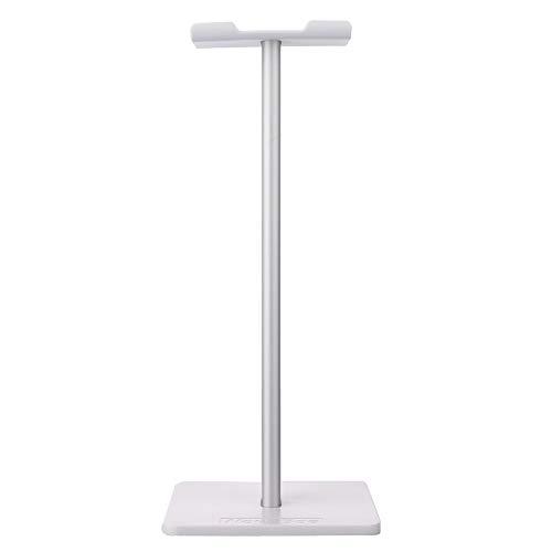 MINGZE Supporto per Cuffie, Mobile Headset Stand In Alluminio Metallo Robusto Con Silicone Antiscivolo ABS & TPU Per Cuffie Da Gioco Per Tutte Le Dimensioni Delle Cuffie (Bianca)