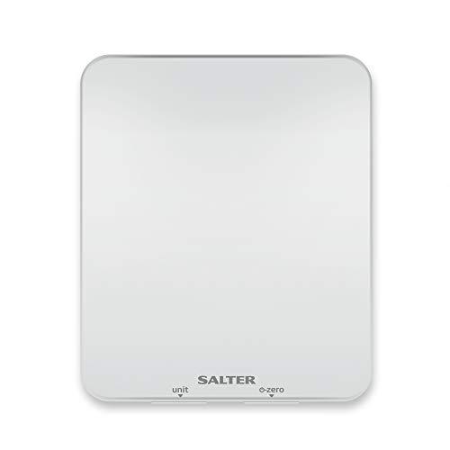 Salter Báscula de cocina digital Ghost Para cocinar y hornear, ocultas hasta que se encienden Pantalla LCD fácil de leer 15 años de garantía