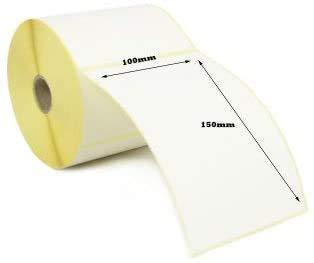 (rollos de 500 etiquetas) etiquetas perforadas térmicas directas, color blanco (6 x 4 pulgadas), 100 mm x 150 mm para impresora Zebra GK420D GX420D GK420T GD420D y otros (5)