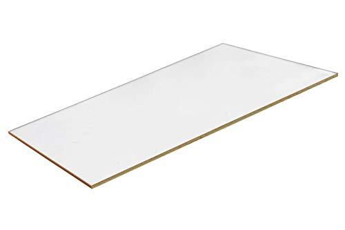 Kaminscheibe Ofenglas 20 x 10cm | 800°C Hitzebeständige Glaskeramik | Feuerfestes Glas Kaminglas auf Maß | Hitzeschutzglas Kamin