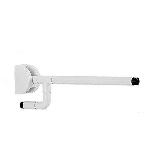 XIN Rampes Pliantes Sans Obstacles Pour Les Personnes Âgées Appartement Toilette Handicapés Toilette Salle De Bain Poignée De Toilette 60cm (Couleur : Blanc)