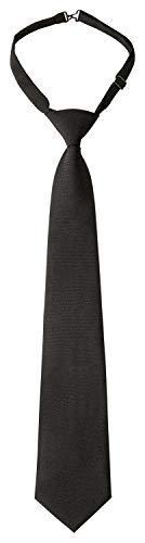 DESERMO Verstellbare Security Krawatte schwarz Vorgebundene Security Krawatte mit Clip Sicherheitskrawatte für Sicherheit, Service & Gastronomie