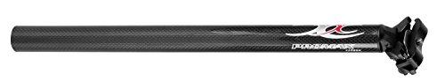 Promax Unisex-Adult Carbon Sattelstütze, schwarz, Ø 27,2 mm