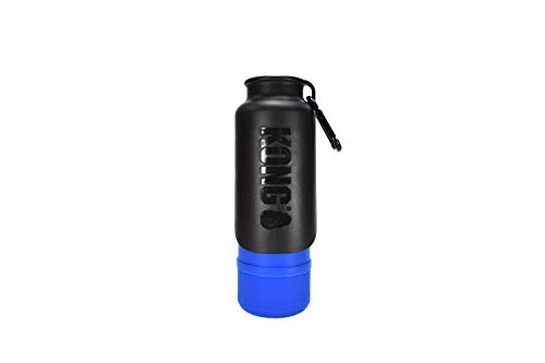 KONG H2O Insulated Dog Water Bottle & Travel Bowl, 25 oz - Blue