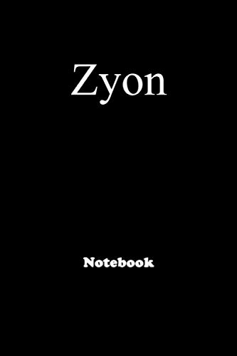 Zyon: Personalized Notebook with Custom Name & Cover . College Ruled Journal for men and Boys ,150pages