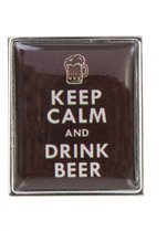 Keep Calm and Drink Beer Manschettenknöpfe Caramel