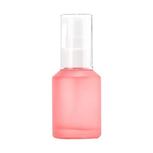 Envase de botella de spray de viaje, 5 unidades, pequeños envases rellenables 100 ml botella de vidrio de color pomelo, mini botella de viaje para el cuidado de la piel