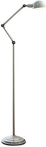 Vloerlamp Woonkamer Studie Slaapkamer Bedkant Oogbescherming lamp - Wit Brons - Metalen Retro Amerikaanse Vloerlamp (Kleur : Geelkoper)