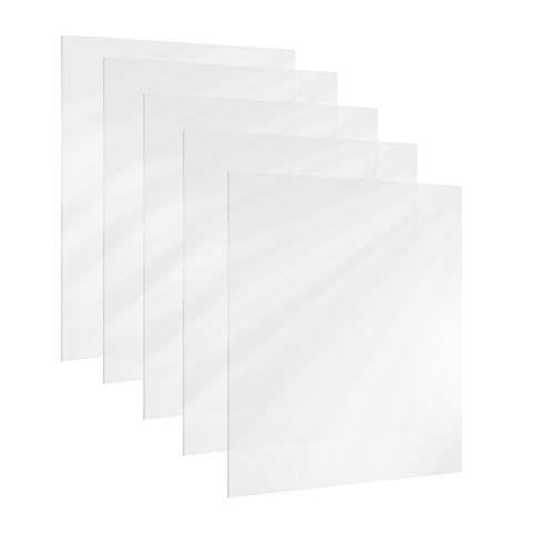WJUAN 5 Pezzi Foglio di Perspex Trasparente (178x127x2mm), Utilizzata per la Sostituzione di Vetro del Telaio, Porta Biglietti da Visita, Confezione Regalo e Altro Artigianato fai-da-te