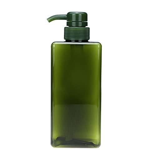Shampooing Flacon pompe rechargeable Poussez vide Type Lotion plastique Distributeur 650ml vert, bouteilles et accessoires remplissables