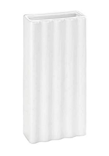 WENKO Humidificador Lineas - Humidificador ambiental con estructura para los radiadores, Cerámica, 9 x 19 x 4 cm, Blanco