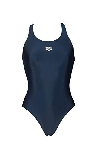 ARENA Damen Women's LTS Y WaterFeel One Piece Swimsuit Badeanzug, Navy, 38