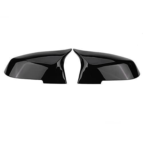 MAMINGGANG MMGANG 1 Pareja retrovisor Espejo Cubierta Tapa cabecera para BMW 220i 328i 420i F20 F21 F22 F30 F32 F33 F36 x1 E84 (Color : Glossy Black)