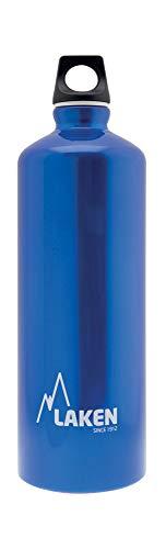 Laken Futura Aluminum Water Bottle - Narrow Mouth, Screw Cap with Loop - Leak-Proof, BPA Free, Made in Spain - 50 oz, Blue