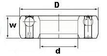 CSK8 One Way Bearing Sprag Freewheel Backstop Clutch