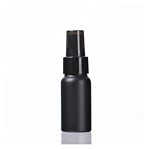 Botella de spray Viaje portátil Botella de aluminio negro Botella vacía Botella de perfume Botella de espray Pure Lotion Essence Loción Botella Packaging Cosmetic Mano de obra, respetuoso con el medio