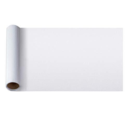 STOBOK Fensterfolie Milchglasfolie Privatsphäre Fensteraufkleber Paste Opak Fenster Haften für Bad Wohnzimmer 1000X45 cm (Weiß)