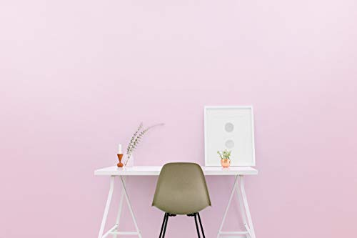 Removable Solid Wallpaper - Peel and Stick Paint - 23.5 inches Wide by 32 feet Long Roll (Pensacola Pink)