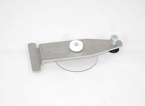 CABRIODOC Reparatur Set Klemmvorrichtung Anpressvorrichtung für Cabrio Glas Heck Scheibe. Stoff mit Glas neu verkleben