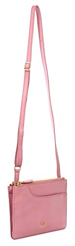 Radley Pockets Small Leather Multi Compartment Zip Top Crossbody Bag in Pink RRP £109.00