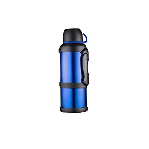 YDZ Borraccia ad alta capacità senza BPA bollitore esterno in acciaio inox per auto da viaggio pesca mantiene liquidi caldi o freddi nero blu 4000ml 20/3/29 (colore : blu)