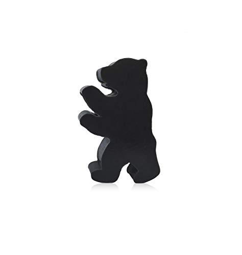 Berliner Bär Seife milde natürliche Seife Dusche Geschenk Bad schwarz: zitrus und blumige Noten, 60 g