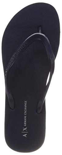 Armani Exchange Damen Rubber Slide Zehentrenner, Blau (Navy 00285), 39 EU