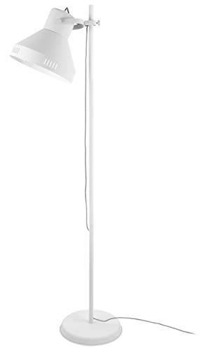 Present time - Lampadaire spot métal blanc et chrome TUNED