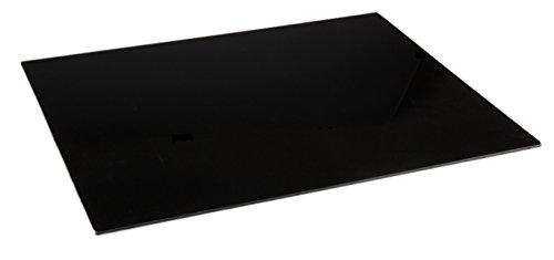 Glass Cutting Board by Clever Chef | Non Slip Cutting Board is Shatter-Resistant, Durable, Stain Resistant, Dishwasher Safe | Rectangle 15.75' x 20' (Black)