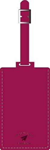 バンガード 旅行用品 ネームタグ スーツケースタグ おしゃれ 革 型押し フェイク レザー ローズ